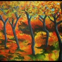 Scrub Oaks in the Fall